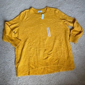 NWT Old Navy mustard sweater 3X
